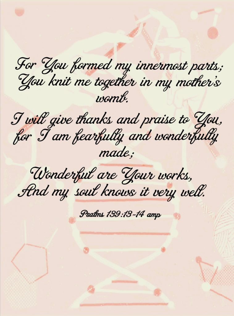 psalms 139:13-14 you are fearfully and wonderfully made